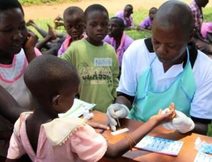 IMG_2688_Testing the children for HIV and Malaria_Mob Hlth Clinic_Butansi Nursery School